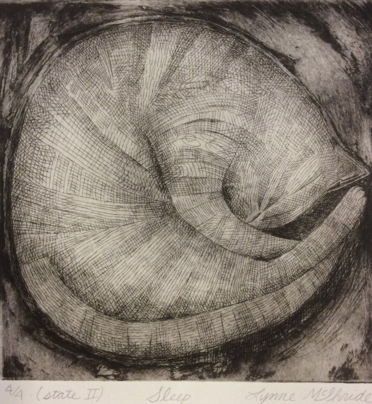 Sleep, etching